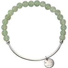 Jamelli Armband 925/- Sterling Silber Achat grün Silbergrau 10389