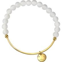 Jamelli Armband 925/- Sterling Silber Achat weiß gelb 10391