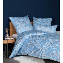 Janine Bettwäsche-Garnitur Carmen Interlock-Jersey kornblumenblau 135x200, 80x80