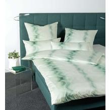 Janine Bettwäsche-Garnitur Carmen Interlock-Jersey mineralgrün 135x200, 80x80