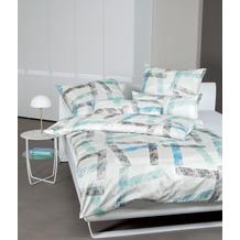 Janine Bettwäsche-Garnitur Interlock-Jersey kristallblau mondnebel 135x200, 80x80