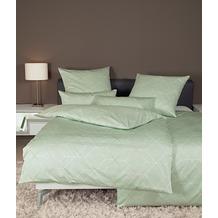 Janine Bettwäsche-Garnitur Interlock-Jersey nebelgrün 135x200, 80x80