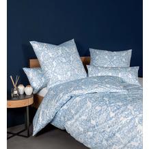 Janine Bettwäsche-Garnitur Messina Mako-Satin himmlisches blau 135x200, 80x80