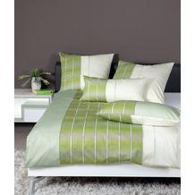 Janine Bettwäsche CARMEN S Interlock-Jersey jadegrün limone 55026-06 135x200, 80x80