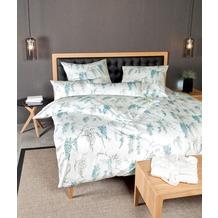 Janine Bettwäsche Interlock-Jersey Carmen pastelltürkis Bettwäsche 135X200, Kissenbezug 80x80