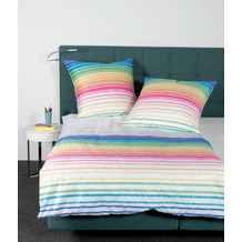 Janine Bettwäsche J. D. Mako-Satin multicolor 87059-09 135x200, 80x80