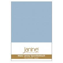 Janine Bettwäsche JERSEY Jersey-Spannbetttuch perlblau 5007-32 200x200