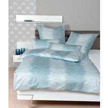 Janine Bettwäsche Mako-Satin Messina pastelltürkis Bettwäsche 135X200, Kissenbezug 80x80