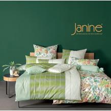 Janine Bettwäsche MILANO Mako-Satin jadegrün limone 45026-06 135x200, 80x80