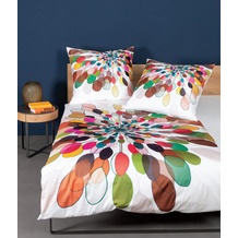 Janine Bettwäsche modern art Mako-Satin multicolor 42065 135x200, 80x80