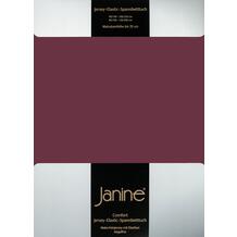 Janine Comfort-Jersey-Spannbettuch Elastic burgund Spannbettlaken 200x200