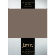 Janine Comfort-Jersey-Spannbettuch Elastic capuccino Spannbettlaken 200x200