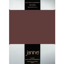 Janine Comfort-Jersey-Spannbettuch Elastic dunkelbraun Spannbettlaken 200x200