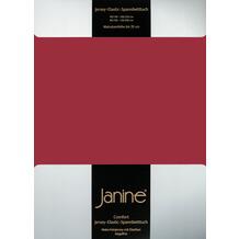 Janine Comfort-Jersey-Spannbettuch Elastic granat Spannbettlaken 200x200