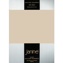 Janine Comfort-Jersey-Spannbettuch Elastic sand Spannbettlaken 200x200