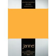 Janine Comfort-Jersey-Spannbettuch Elastic sonnengelb Spannbettlaken 200x200