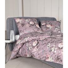 Janine Edelflanell Chinchilla S nostalgisch rosé Bettwäsche 135x200,Kissenbezug 80x80
