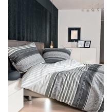 Janine Feinbiber Davos platin graphit Bettbezug 135x200, 80x80