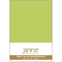 Janine Jersey-Spannbetttuch Jersey apfelgrün Spannbettlaken 200x200