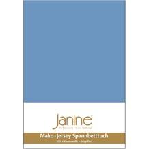 Janine Jersey-Spannbetttuch Jersey blau Spannbettlaken 200x200