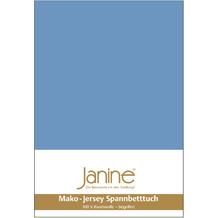 Janine Jersey-Spannbetttuch Jersey blau Kissenbezug 40x40