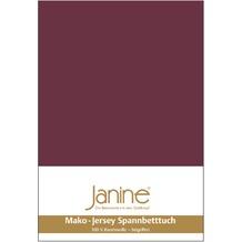 Janine Jersey-Spannbetttuch Jersey burgund Spannbettlaken 200x200