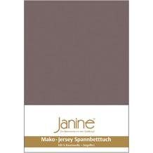 Janine Jersey-Spannbetttuch Jersey cappuccino Spannbettlaken 200x200