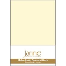 Janine Jersey-Spannbetttuch Jersey champanger Spannbettlaken 200x200