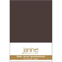 Janine Jersey-Spannbetttuch Jersey dunkelbraun Kissenbezug 40x40