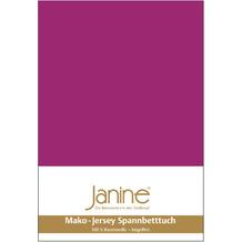 Janine Jersey-Spannbetttuch Jersey fuchsia Kissenbezug 40x40