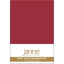 Janine Jersey-Spannbetttuch Jersey granat Spannbettlaken 200x200