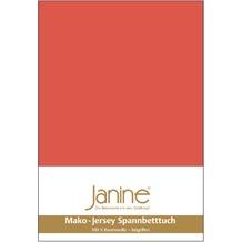 Janine Jersey-Spannbetttuch Jersey koralle Spannbettlaken 200x200