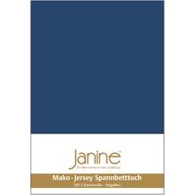 Janine Jersey-Spannbetttuch Jersey marine Spannbettlaken 200x200