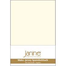 Janine Jersey-Spannbetttuch Jersey natur Spannbettlaken 200x200