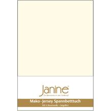 Janine Jersey-Spannbetttuch Jersey natur Kissenbezug 40x40