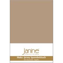 Janine Jersey-Spannbetttuch Jersey nougat Spannbettlaken 200x200