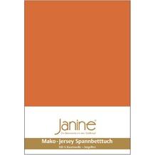 Janine Jersey-Spannbetttuch Jersey rost-orange Spannbettlaken 200x200