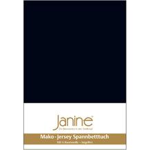 Janine Jersey-Spannbetttuch Jersey schwarz Kissenbezug 40x40