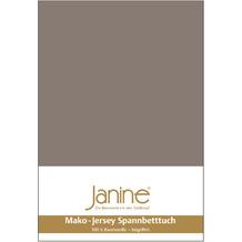 Janine Jersey-Spannbetttuch Jersey taupe Kissenbezug 40x40