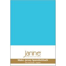 Janine Jersey-Spannbetttuch Jersey türkis Kissenbezug 40x40