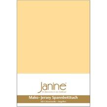 Janine Jersey-Spannbetttuch Jersey vanille Spannbettlaken 200x200