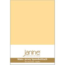 Janine Jersey-Spannbetttuch Jersey vanille Kissenbezug 40x40
