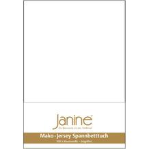 Janine Jersey-Spannbetttuch Jersey weiß Kissenbezug 40x40