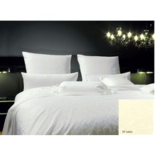 Janine Mako-Brokat-Damast Rubin natur Bettbezug 135x200, 80x80