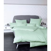 Janine Mako-Satin Colors jadegrün Bettwäsche 135x200,Kissenbezug 80x80