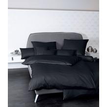 Janine Mako-Satin Colors schwarz Bettbezug 135x200, 80x80
