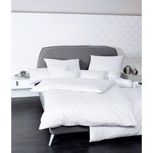 Janine Mako-Satin Colors weiss Bettbezug 135x200, 80x80