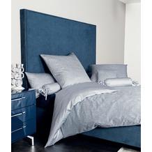 Janine Mako-Satin Messina kreideblau Bettbezug 200x200+2x80x80