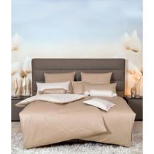 Janine Mako-Satin modernclassic beige Nadelstreifen Bettbezug 135x200, Kissenbezug 80x80cm