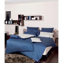 Janine Mako-Satin modernclassic dunkelblau Bettbezug 135x200, 80x80